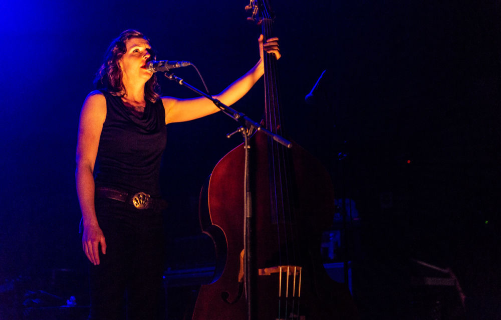 Lucia Turino performs with The Devil Makes Three at Montreal's Corona theatre.