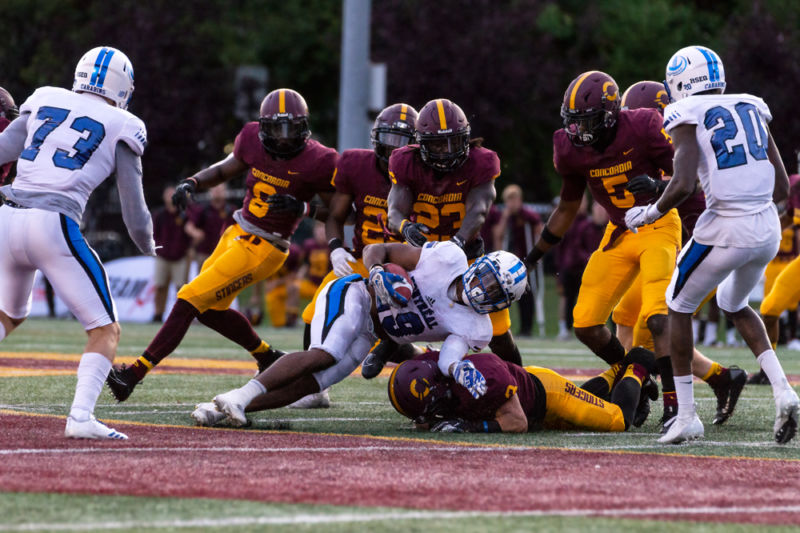 Concordia Stingers host the Montreal Carabins, August 23rd, 2019. Photo by Kieron Yates.
